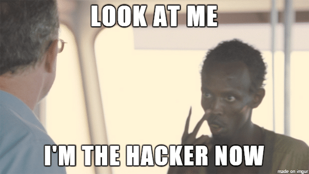 Look at me I'm the hacker now
